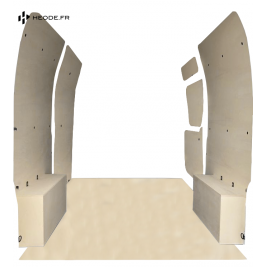 Habillage complet bois plancher brut 15mm