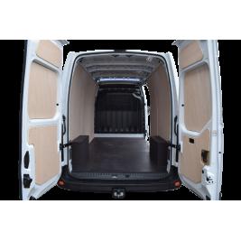 Pose du kit d'habillage bois (plancher et parois) dans votre véhicule