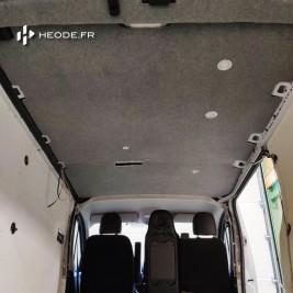 habillage plafond finition moquette fourgon aménagé